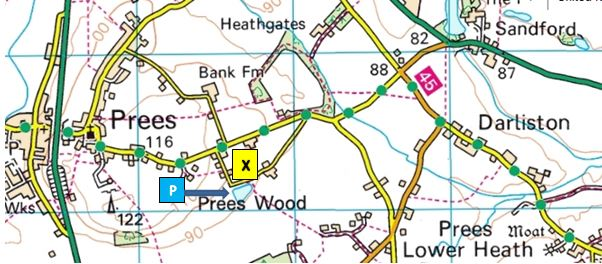 Location map for Preeswood Pool